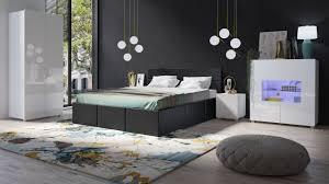 schlafzimmer komplett set 5 tlg labri schwarz weiss hochglanz