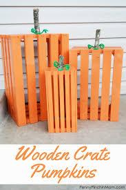 Wooden Crate Pumpkins