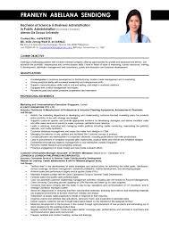 Sample Objectives In Resume For Ojt Business Administration Student Fresh Dorable Objective