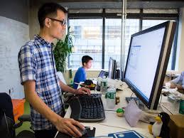 Lifehacker Best Standing Desk by Facebook U0027s Standing Desk Workspace Lifehacker Australia