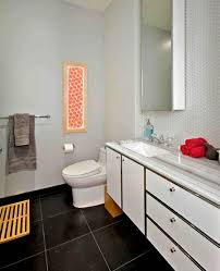 Modern Luxury Rental Apartment Bathroom Interior Design 25 Broad Financial District NYC