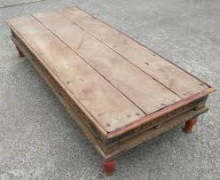 Rustic Style Coffee Table Large Wood Sold Spanish