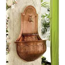 Spanish Colonial Design Style Classic Mediterranean Charm Backyerd Water Fountain Copper DecorCopper WallOutdoor