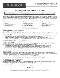 Operations Manager Executive Resume Samplebr All Material Is Copyrighted By The Writing