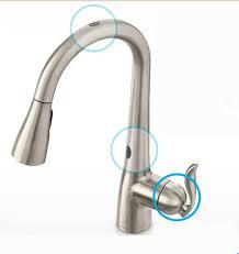 kohler touchless faucet sensor not working kitchen touchless faucets kitchen contemporary on in kohler