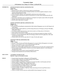 Download Windows Server Administrator Resume Sample As Image File