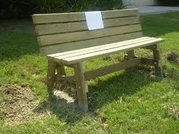 simple garden bench seat made by mimi