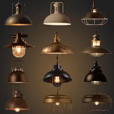 Buy Vintage Industrial Lighting Copper Lamp Holder Metal Pendant