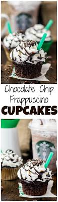 Copycat Starbucks Double Chocolate Chip Frappuccino Cupcakes