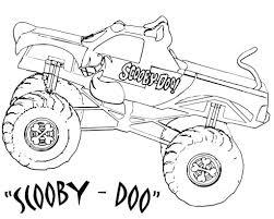 Dibujo Para Colorear Monster Truck Scooby Doo Páginas Para Colorear ...