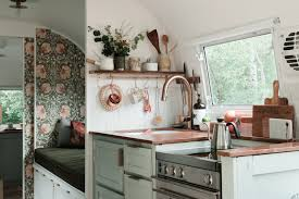 100 Airstream Trailer Interior A Dreamy 1962 Wallpapered With Florals