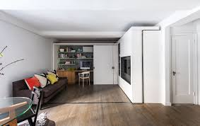 100 Interior Sliding Walls 390 Square Foot Micro Apartment With Multifunctional Wall