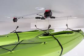 Garage Ceiling Kayak Hoist by Mylifter Smart Motorized Garage Lifting Hoist Winch Storage