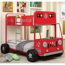 Furniture Of America Rescue Team Fire Truck Metal Twin/ Twin Bunk ...