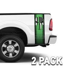 100 Diamond Truck Punisher Skull Green Plate Bed Stripes 2 Pack Bed