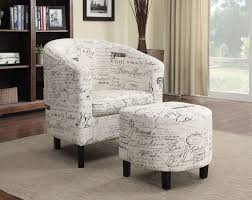 100 Accent Chairs With Arms And Ottoman French Script Pattern Chair With From Coaster 900210