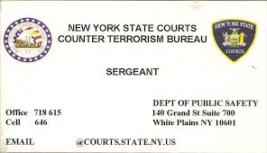 counter terrorism bureau file business card of the counter terrorism bureau dept of
