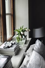 Bedroom Modern Spring Decor Ideas With White Lily Flowers Also Table Lamp Shades