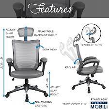 amazon com techni mobili high back mesh executive office chair