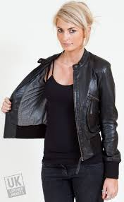 womens black leather bomber jacket airabonita uk lj