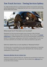 100 Tow Truck Laws Services Ing Services Sydney By Cbtservices Issuu