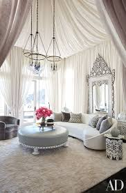 Martyn Lawrence Bullard Tented Khloes Living Room With A Sheer Fabric Of His Own Design And