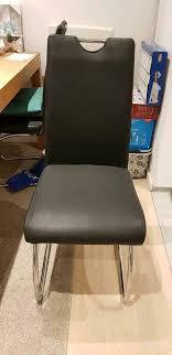 4 stück schwingstühle esszimmer echtleder stuhl ohne macken leder