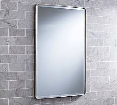 Brushed Nickel Medicine Cabinet With Mirror by Wall Mounted U0026 Recessed Medicine Cabinets Pottery Barn