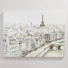 Paris City Sketch By Piotr Michal