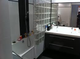 separation salle de bain mur en brique de verre salle de bain 1 mur en brique de verre