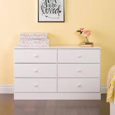 Sauder Beginnings Dresser White by Prepac Astrid 6 Drawer White Dresser Wdbr 0402 1 The Home Depot