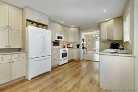 Traditional Whitewash Kitchen Cabinets Design Ideas With White Appliances Cabi