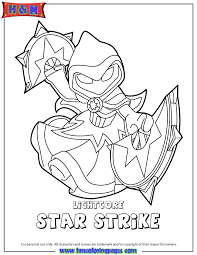 Skylanders Swap Force Magic Lightcore Star Strike Coloring Page