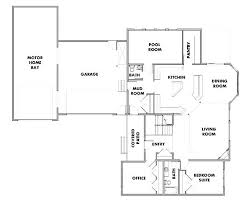 Super Ideas 4 Single Story House Plans With Rv Garage Home 2 Bedroom Small