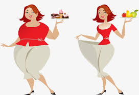 healthy lifestyle Cartoon Character Lose Weight PNG Image and