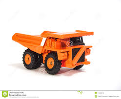 Toy Big Orange Dump Truck Stock Photo. Image Of Roads - 57307648