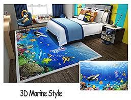 de baby kinder schlafzimmer teppich 3d marine stil