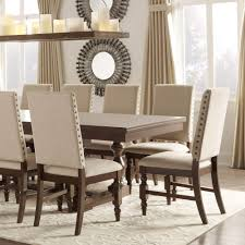 Shop Flatiron Nailhead Upholstered Dining Chairs Set Of 2 By INSPIRE Q Classic
