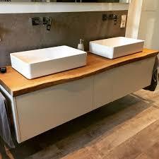 waschtisch mit eiche echtholz waschtischplatte und