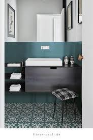 fliese patchwork dekor zementoptik petrol blau weiß 20x20cm