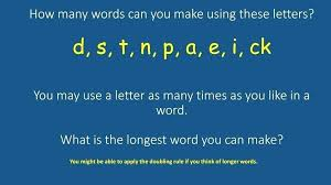 What Words Can You Make with these Letters What Words Can Be Made