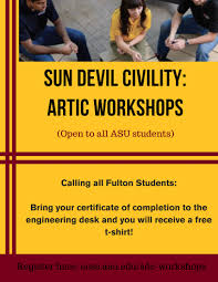 Asu West Help Desk by Sun Devil Civility Artic Workshops Fulton Student Organizations