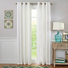 White And Gray Blackout Curtains by Better Homes And Gardens Solid Basket Weave Grommet Window Panel