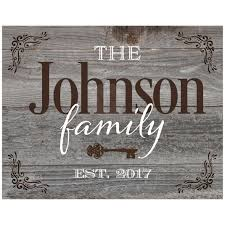 Rustic Weathered Barn Board Wood Look Art Print Is Personalized With Your Family Name And Year