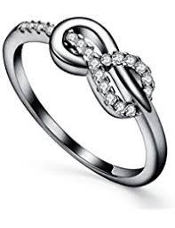 Infinity Fashion Best Friend Rings 925 Sterling Silver Wave Promise For Women