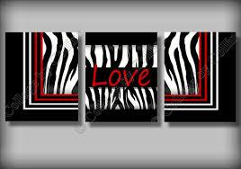 red zebra print wall art decor love girl room by collagebycollins