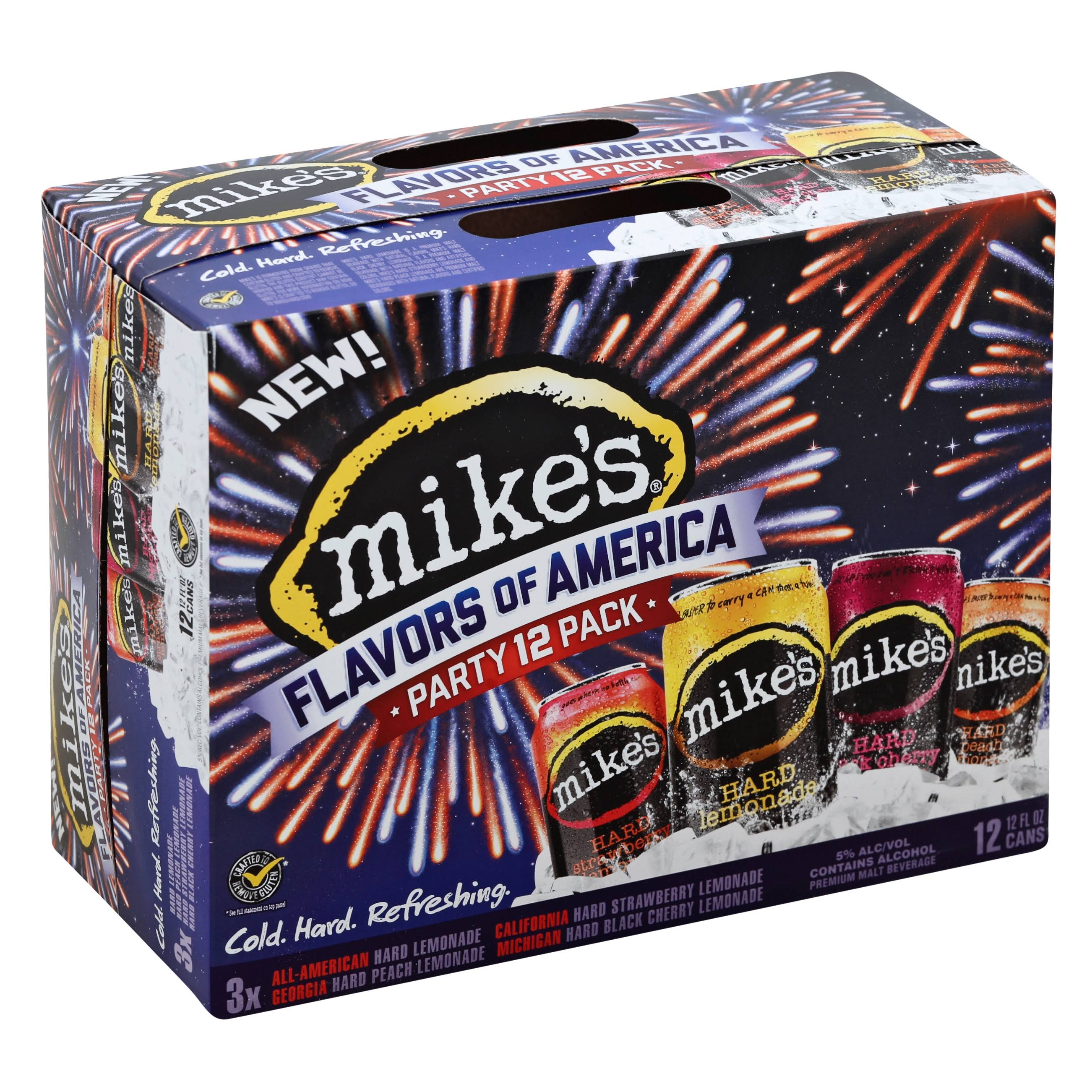 Mike's Hard Flavors Of America Party Pack Malt Beverages - 12 Cans