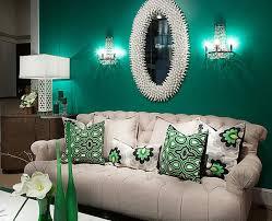 farbiges interior design grün in der hauptrolle modern