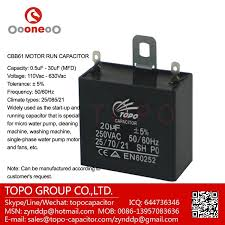 Cbb61 Ceiling Fan Capacitor 5 Wire by 3 Terminal Feed Through Cbb61 370vac 1mf Capacitor Buy Cbb61