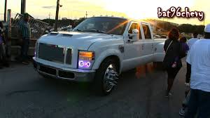 White Ford F 350 Dually Truck On 24